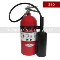 Amerex 330 Fire Extinguisher B:C Carbon Dioxide 10 lb. 24 Inch H
