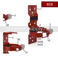 Amerex 808 6 & 9 lb. Vehicle/Marine Bracket Red