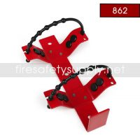 Amerex 862 Heavy Duty Rubber Strap Bracket Red