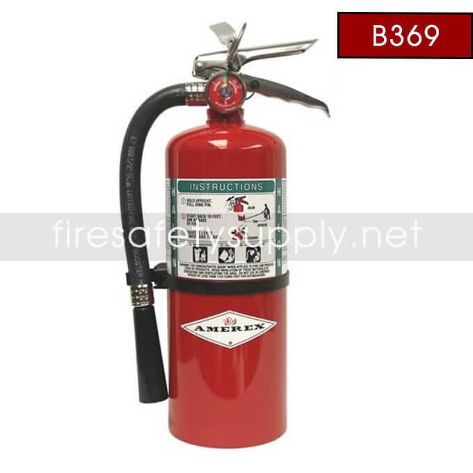Amerex B369 9 lb. Halon 1211 Clean Agent Extinguisher