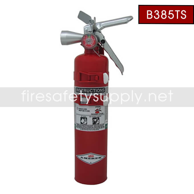 Amerex B385TS 2.5 lb. Halotron 1 Clean Agent Extinguisher