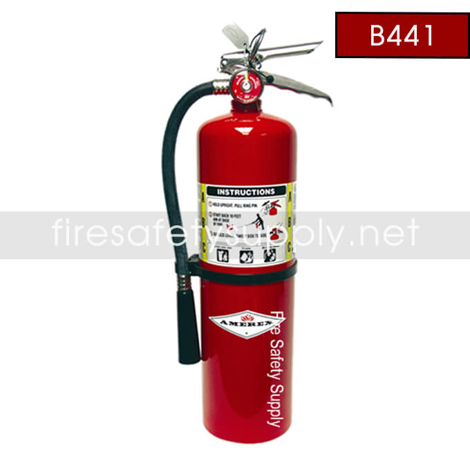 Amerex B441 10lb Brass Valve ABC Dry Chemical Fire Extinguisher