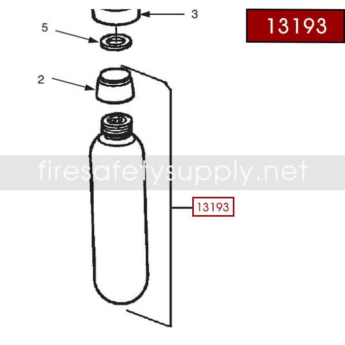 Ansul 13193 RED LINE Nitrogen Cartridge
