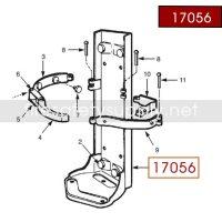Ansul 17056 Red Line Frame Assembly