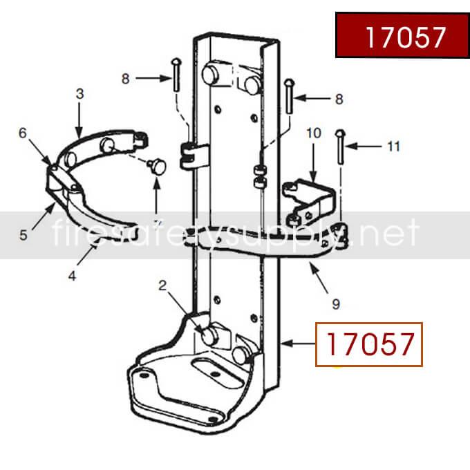Ansul 17057 Red Line Frame Assembly