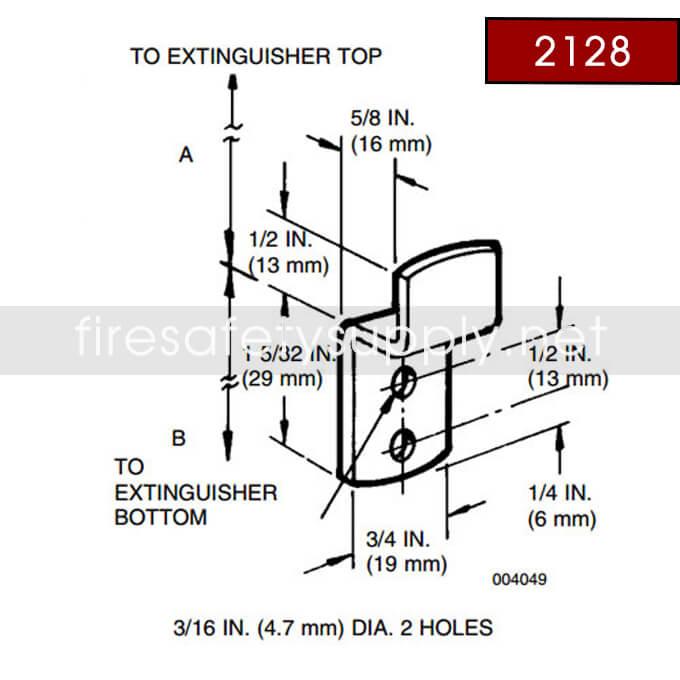Ansul 2128 Red Line Hanger Hook