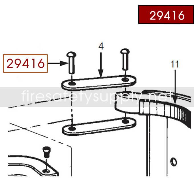 Ansul 29416 Red Line Rivet