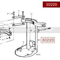 Ansul 30220 Red Line Back Frame Assembly