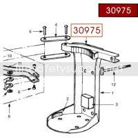 Ansul 30975 Red Line 10 lb. Heavy Duty Bracket T-Bolt Assembly