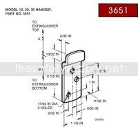 Ansul 3651 Red Line Hanger Hook
