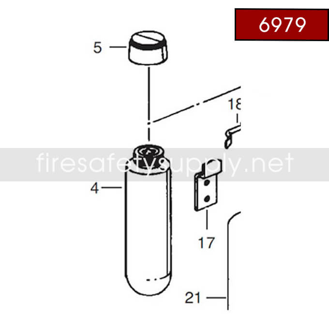 Ansul 6979 RED Line Nitrogen Cartridge