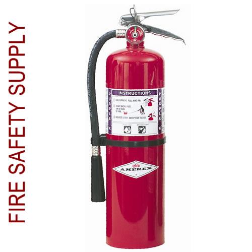 K Fire Extinguisher : Amerex b lb purple k dry chemical extinguisher
