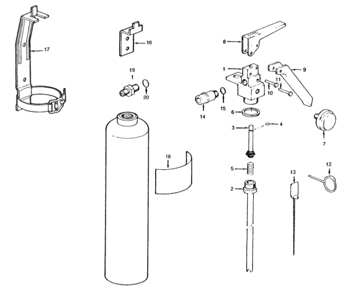 Sentry Dry Chemical Fire Extinguisher Parts | Fire Safety Supply