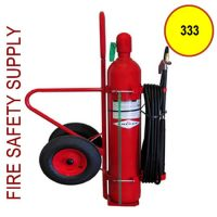 Amerex 333 Wheeled Fire Extinguisher, 20B:C, Carbon Dioxide, 50 lb.