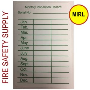 "MIRL Monthly Inspection labels 2"" x 3"" MIRL Monthly Inspection labels 2"" x 3"""