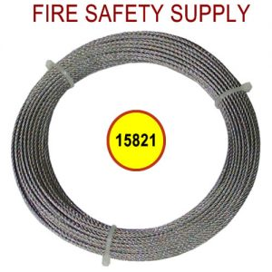 PyroChem 15821 - WR-50 Wire Rope, Stainless Steel, 1/16 in. Dia., 50 feet