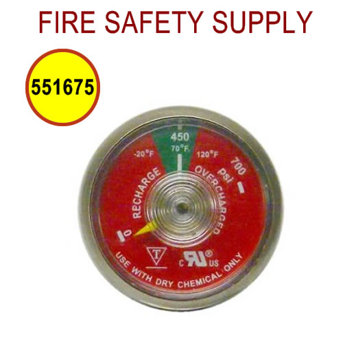 PyroChem 551675 - Pressure Gauge, Valve, 450 psi
