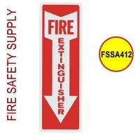 FSSA412 Fire Extinguisher Arrow, 4 Inch x 12 Inch