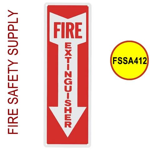 "Fire Extinguisher Arrow, 4"" x 12""-FSSA412"
