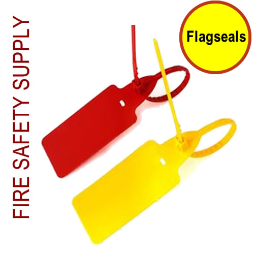 Flagseals - Red and orange, box of 1000 for the current year