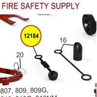 Amerex 12184 - Protective Blowoff Cap Aluminum Valve Nozzles