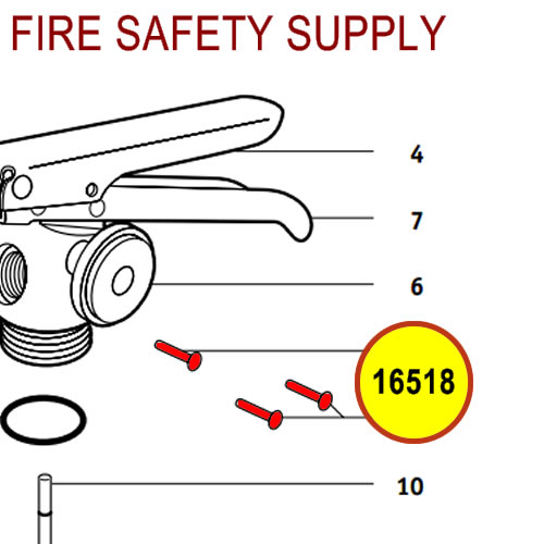 Badger 16518 - Operating lever rivet - large valve models