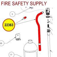 Badger 22363 Discharge hose assembly-10MB-8H Model 0.180 orifice