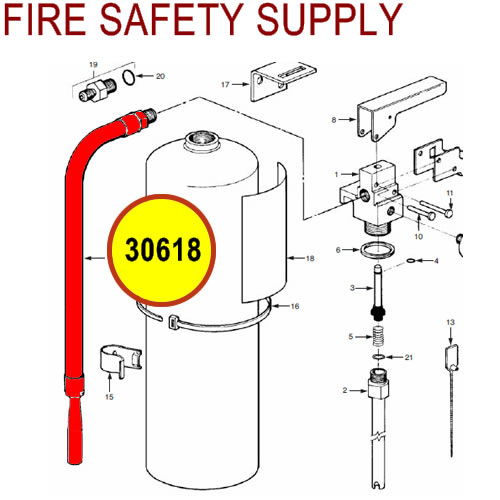 30618 Ansul Sentry Hose & Nozzle Assembly