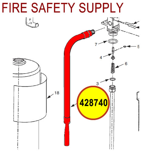 428740 Ansul Sentry Hose and Nozzle Assembly