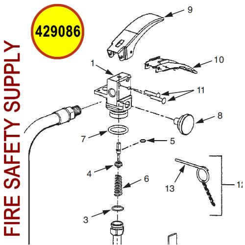 Ansul 429086 Sentry Valve Assembly