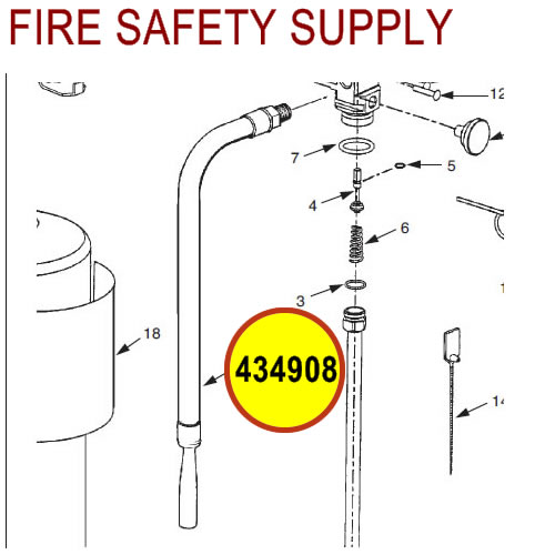 434908 Ansul Sentry Hose Assembly