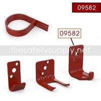 Amerex 09582 Wall Hanger Bracket Red All 13.2 lb-6Kg and 20 lb. High Performance