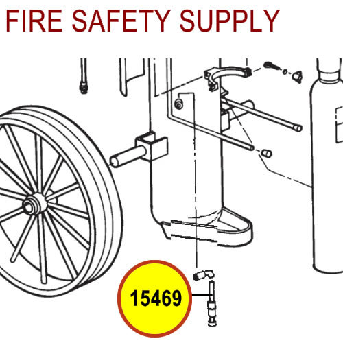 Ansul 15469 Gas Tube Assembly, Field Replacement