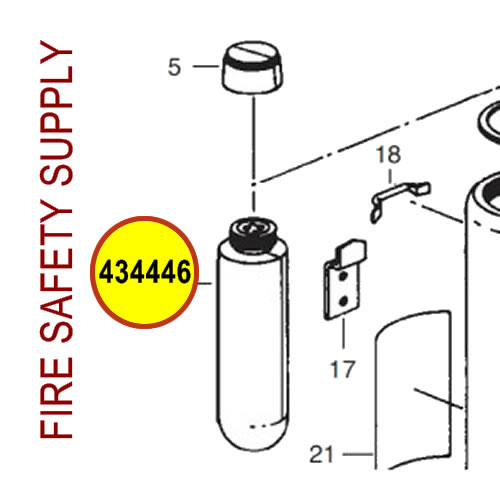 Ansul 434446 Red Line Gas Tube Assembly