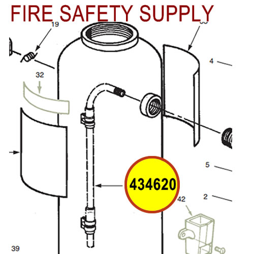 Ansul 434620 Red Line Gas Tube Assembly