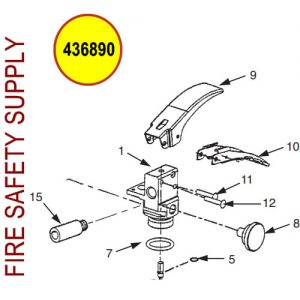 Ansul Sentry 436890 Replacement Valve Assembly with Tube (A02S)