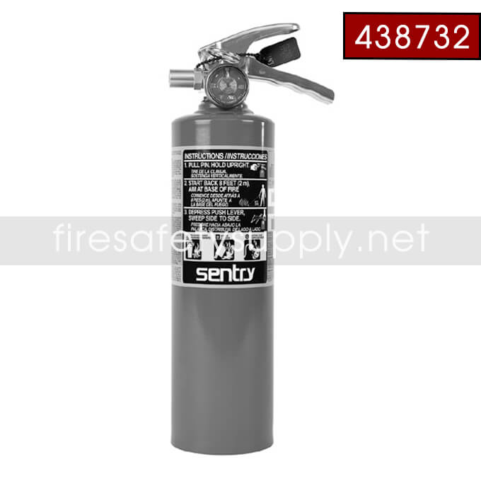 Ansul Sentry 438732 2.5 lb FORAY Extinguisher with Hanger Hook (A02S) (UL/ULC Rating: 1-A:10-B:C)