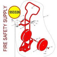 Ansul Sentry 553326 50 lb. Carbon Dioxide Cart Assembly
