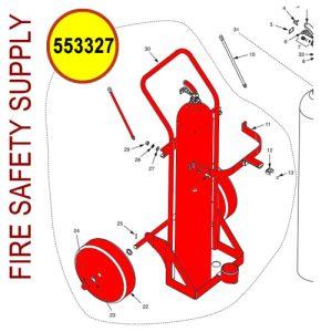 Ansul Sentry 553327 100 lb. Carbon Dioxide Cart Assembly