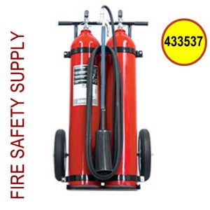Ansul Sentry 433537 50 lb. Carbon Dioxide Wheeled Extinguisher (CD-50-D-1) (UL/ULC Rating: 20-B:C)