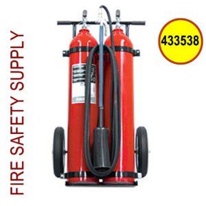 Ansul Sentry 433538 100 lb. Carbon Dioxide Wheeled Extinguisher