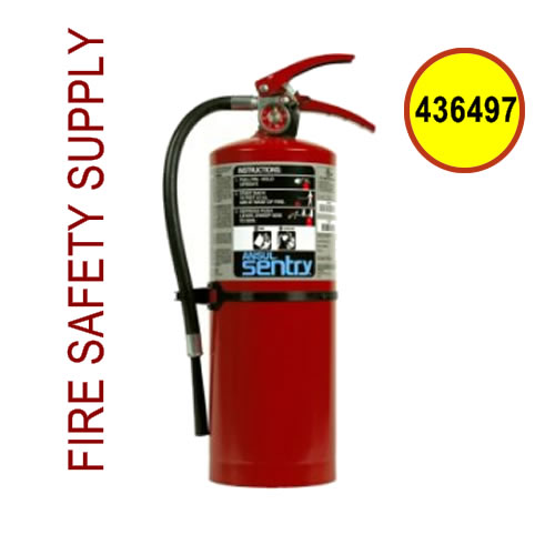 436497 Ansul Sentry 10 lb. Fire Extinguisher, Plus Fifty C, C10S (60-B:C)