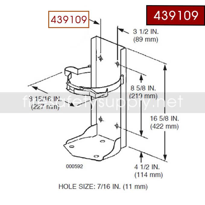 Ansul Sentry 439109 Bracket Conversion Assembly