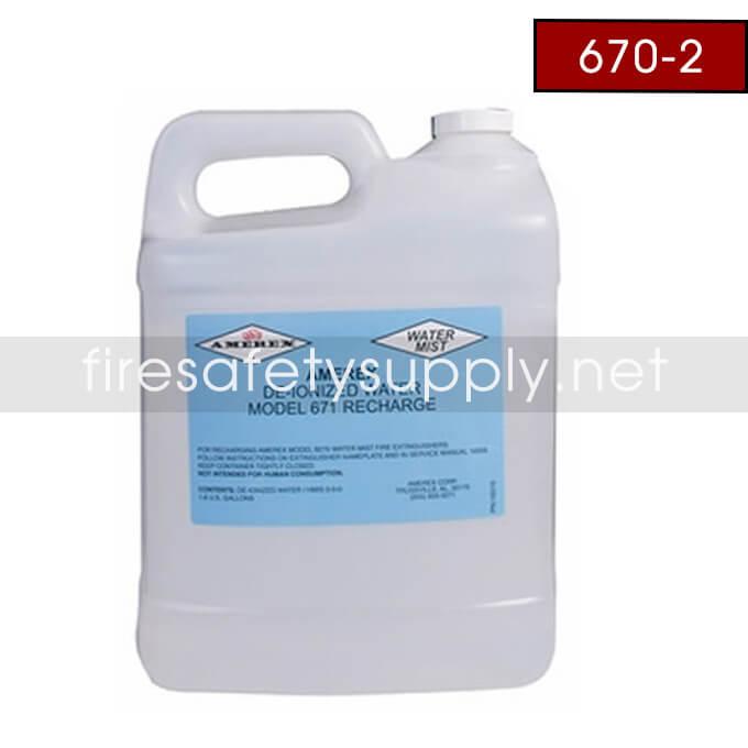 Amerex 670-2 1.8 GAL. DE-ION WATER 2-PACK