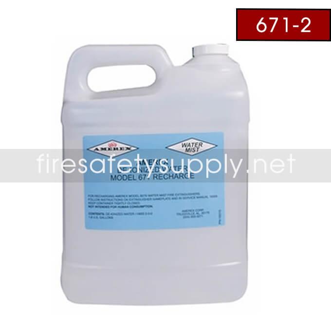 Amerex 671 2-2.5 GAL. DE-ION WATER 2-PACK