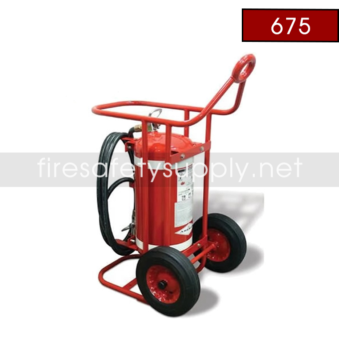 Amerex 675 150 lb. Halotron with 36 Steel Wheels