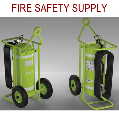 Amerex 600K - 150 LB HALON Wheeled Extinguisher