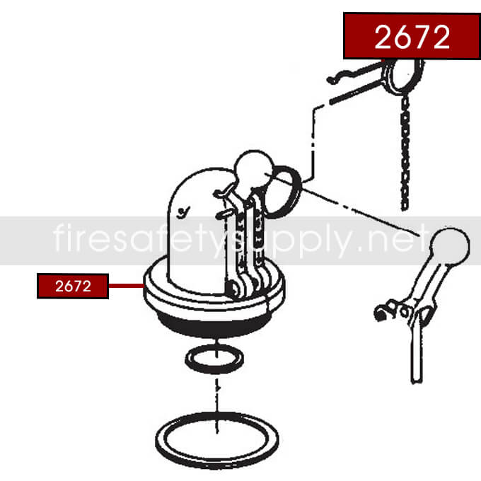 Ansul 2672 RED LINE Dome Assembly and Fill Cap