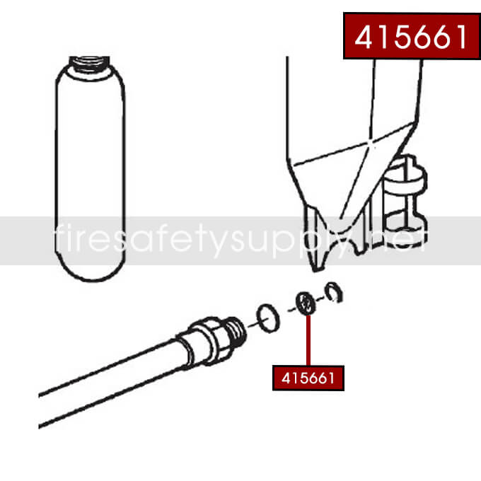 Ansul 415661 RED LINE 30 lb. Extinguisher Hose Inspection Seal