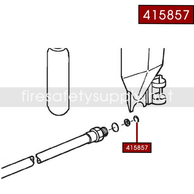 Ansul 415857 RED LINE 30 lb. Extinguisher Hose Retaining Ring